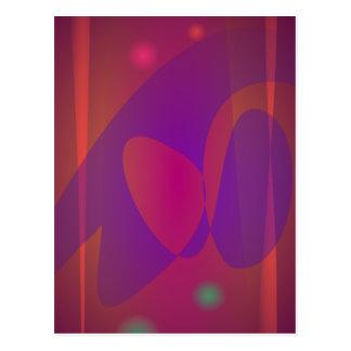 Reddish-Brown Simple Abstract Art Postcard