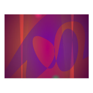 Reddish-Brown Simple Abstract Art Postcard