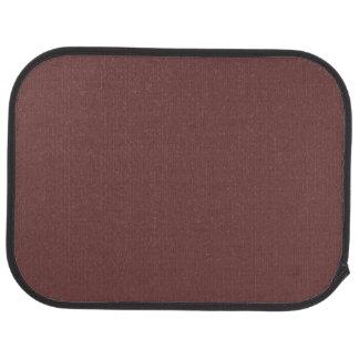 Reddish Brown Solid Color Car Mat