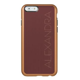 Reddish Brown Solid Color Incipio Feather Shine iPhone 6 Case
