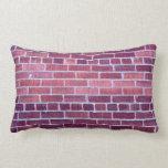 [ Thumbnail: Reddish-Brownish Brick Wall Lumbar Pillow ]