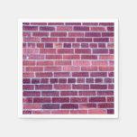 [ Thumbnail: Reddish-Brownish Brick Wall Napkin ]