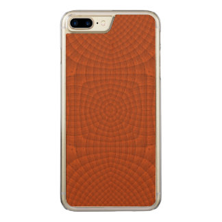 Reddish colored wood pattern carved iPhone 8 plus/7 plus case