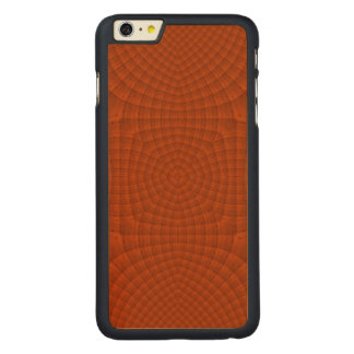 Reddish colored wood pattern carved maple iPhone 6 plus slim case