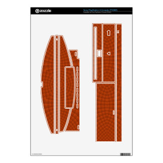 Reddish colored wood pattern decals for PS3 console
