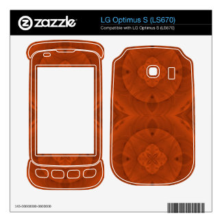 Reddish colored wood pattern skin for the LG optimus s