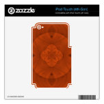 Reddish colored wood pattern skins for iPod touch 4G