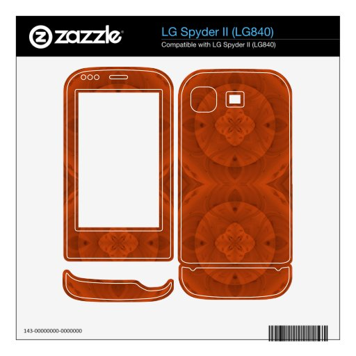 Reddish colored wood pattern skin for the LG spyder II
