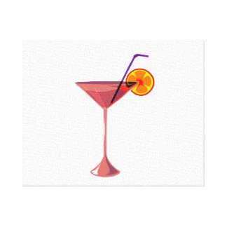 reddish drink blue straw orange graphic.png canvas print