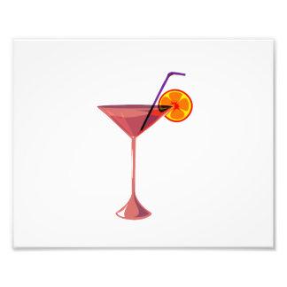 reddish drink blue straw orange graphic.png photographic print