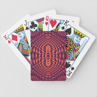 Reddish Modern Spiked design Bicycle Playing Cards