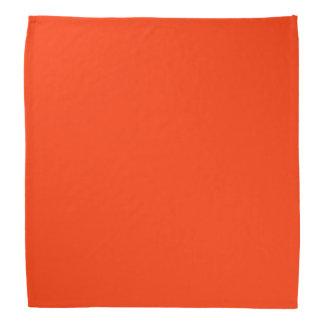 Reddish Orange Solid Color Bandana