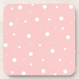 Reddish Pink Bubbles Beverage Coaster