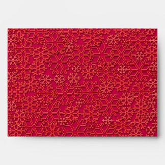 Reddish snowflakes texture envelope