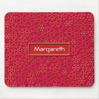Reddish snowflakes texture mouse pad
