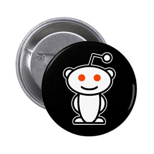 Reddit Alien 2 Inch Round Button