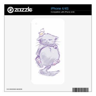 Reddit cat decal for iPhone 4S