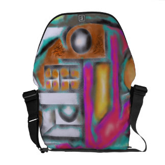 Reddog Digital Abstract Design Courier Bag