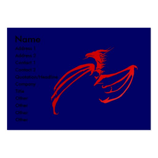 RedDraak Profile Card Large Business Cards (Pack Of 100)