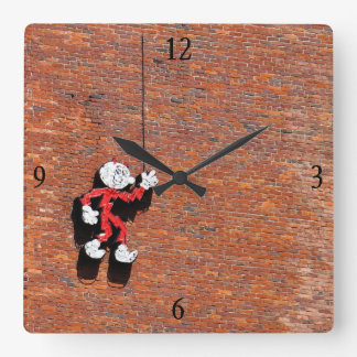 Reddy or Not Square Wall Clock