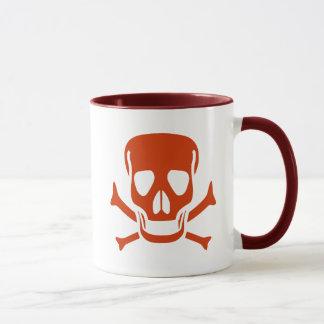 Rede Skull Pirate Flag Mug