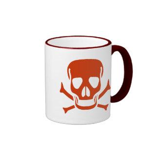 Rede Skull Pirate Flag Coffee Mug