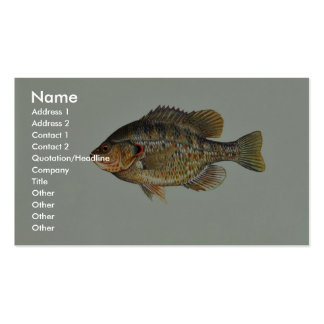 Redear sunfish Double-Sided standard business cards (Pack of 100)