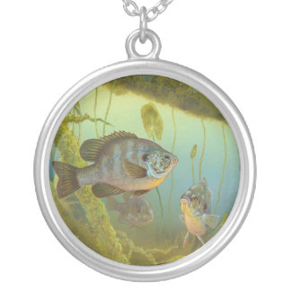 Redear Sunfish Lepomis Microlophus Timothy Knepp Round Pendant Necklace