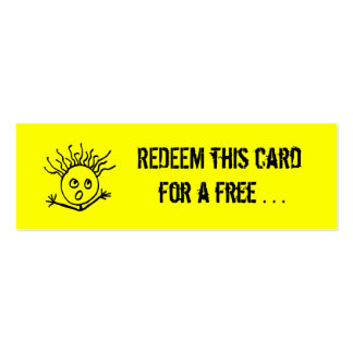 REDEEM this card Double-Sided Mini Business Cards (Pack Of 20)
