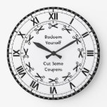 Redeem Yourself - Cut some Coupons Funny Scissors Wall Clocks
