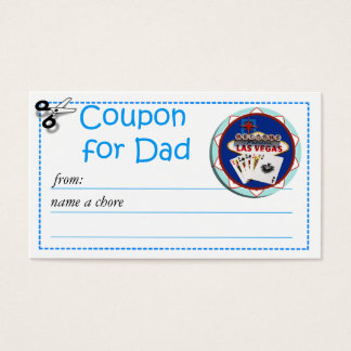 Redeemable Chore Coupon for Parents Business Card