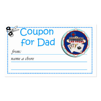 Redeemable Chore Coupon for Parents Double-Sided Standard Business Cards (Pack Of 100)