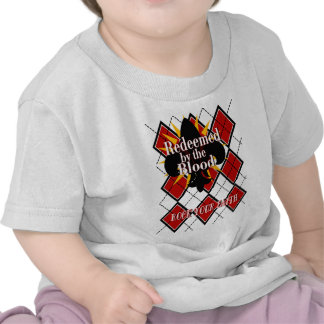 redeemed by the blood argyle2 tee shirt