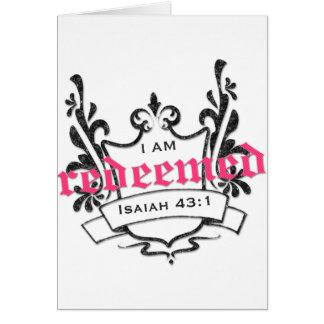 Redeemed Card