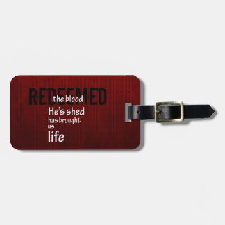 Redeemed Custom Christian Jesus Gift Luggage Tag