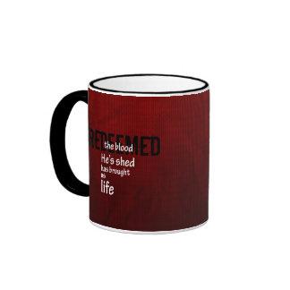 Redeemed Custom Christian Jesus Gift Ringer Coffee Mug