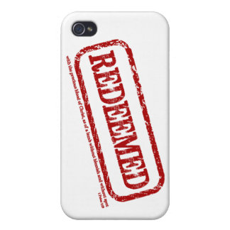 Redeemed Stamp iPhone Case {1 Peter 1:19}