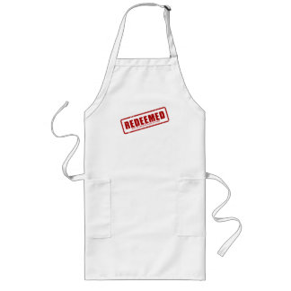 Redeemed With The Precious Blood of Christ Long Apron