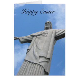 redeemer easter statue greeting card