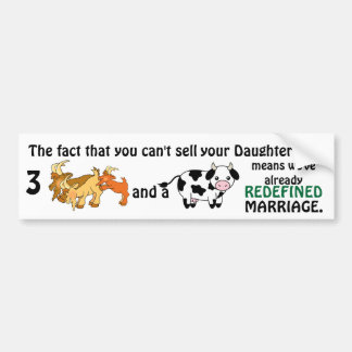 Redefined Marriage Bumper Sticker