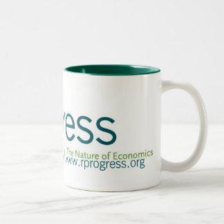 Redefinición de la taza del logotipo del progreso