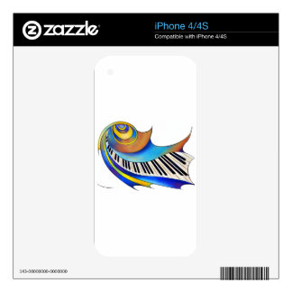 Redemessia - spiral piano skin for iPhone 4