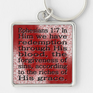 Redemption Silver-Colored Square Keychain