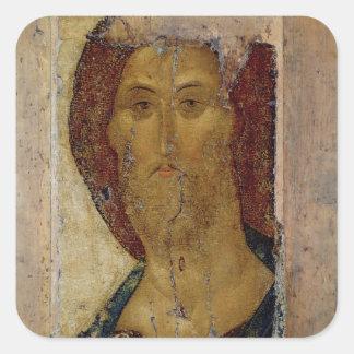 Redentor, 1420 pegatina cuadrada