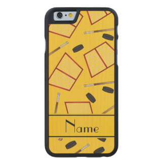 Redes amarillas conocidas de encargo de los funda de iPhone 6 carved® de arce