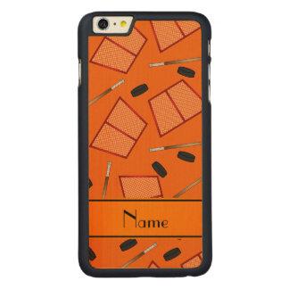 Redes anaranjadas conocidas de encargo de los funda de arce carved® para iPhone 6 plus slim