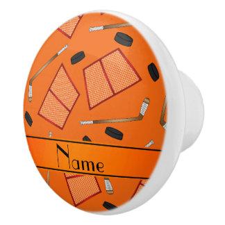 Redes anaranjadas conocidas de encargo de los pomo de cerámica