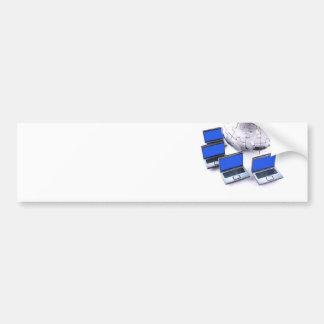Redes de ordenadores globales pegatina de parachoque