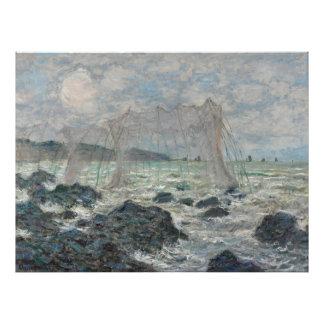 Redes de pesca en Pourville de Claude Monet