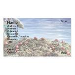 Redes de pesca tarjetas de visita